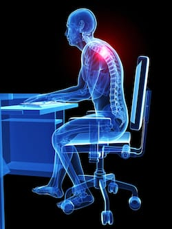 Micro-trauma caused by poor posture is extremely common
