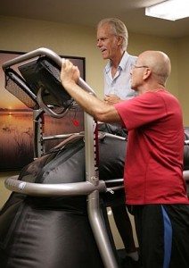 Knee replacement therapy  on the ALTER G TREADMILL