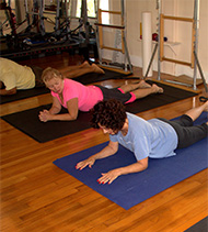 Pilates class at Rubin Health Center St Petersburg Fl.